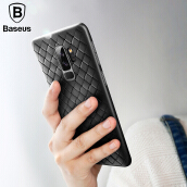 Baseus Samsung Galaxy S9 Plus Case, Creative Grid BV Weaving Phone Case for Samsung Galaxy S9+ Soft Protective Cover Case