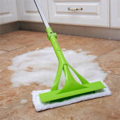 BESSKY  Telescopic Foldable Handle Cleaning Glass Sponge Mop Cleaner Window Extendable _ Green