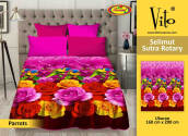 Selimut Vito Sutra Rotary 160x200 Parrots - Pink Pink