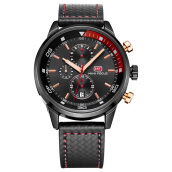 MINIFOCUS imports original sports men's simple multifunctional leather Swiss army watch