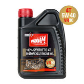Vrooam Vr90 - 4T Motorcycle Engine Oil 5W40 1L 100% Syn