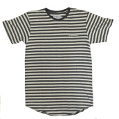 W.ESSENTIELS Chest Logo Stripe Grey-Misty