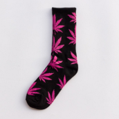 Cool My style CS-13 California skate city Maple leaf socks(about 19cm)-Black
