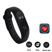 Kenny Smart Band With OLED Display Heart Rate Fitness Tracker IP67 Waterproof Smartwatch For xiaomi iPhone Samsung Black