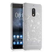 GANGXUN®Nokia 6 Case 3D Embossed Dragon Pattern Luxury Full Covered Matte Non-slip Protective Cover Nokia 6