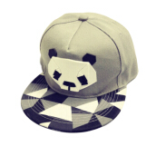 BAI B-338 Adjustable Baseball Cap MBL Hiphop cap with The Panda design-Grey