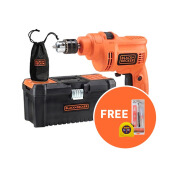 Black+Decker Concrete Drill + Accessories + Toolbox TP555KPR-B1
