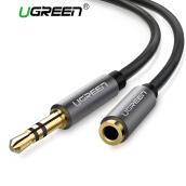 UGREEN 3.5mm Male to Female Extension Stereo Audio Extension Cable Adapter Gold Plated Compatible