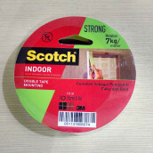 3M Scotch Mounting Double Tape Size 24 mm x 3 mm 110 - 3A White