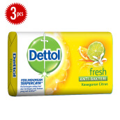 DETTOL Bar Soap Fresh 105gr Super Hemat - Isi 3