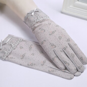 Nlfind Women's Summer Sunscreen Lace Gloves B