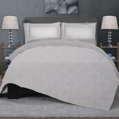 CELINA Sprei Set & Quilt Cover Queen - Royal Kawung White - 160x200x40cm