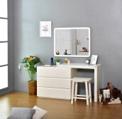 LIVIEN Furniture - Anemon Drawer / Meja Rias / Meja Belajar White