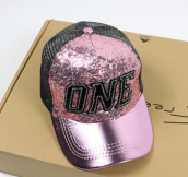 BAI B-333 Adjustable Baseball Cap MBL Hiphop cap with The ONE design-Pink