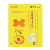 Dr morita propolis repairing& hydrating essence faceial mask 8 piece 8 In / Box
