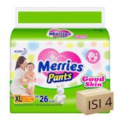 MERRIES Popok Pants Good Skin XL 26 - Karton Isi 4