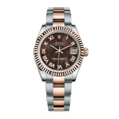 ROLEX Boys DateJust 31mm 178271 - Black MOP Roman
