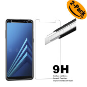 VEN Samsung Galaxy A8 Plus 2018 Tempered Glass  screen protector  {2-Pack}  TRANSPARENT