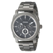 Fossil Machine Chronograph Smoke Stainless Steel [FS4662] Grey