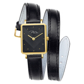 Jonas Verus Queen Collection Ladies Black Pattern Dial Black Leather [X02059-Q3.GGHLB]