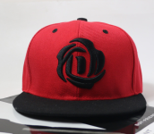 BAI B-328 Adjustable Baseball Cap MBL Hiphop cap with D Rose design-Black&Red