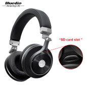 Bluedio T3 Plus Bluetooth headset support SD card wireless headphone Black