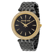 Michael Kors Darci Black Dial Black Stainless Steel Bracelet Watch [MK3322]