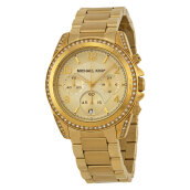 Michael Kors Blair Chronograph Gold Dial Gold Stainless Bracelet Watch [MK5166]