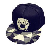 BAI B-339 Adjustable Baseball Cap MBL Hiphop cap with The Sheep design-Black
