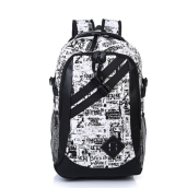 Ins I-232 Trendy outdoor travel &casual backpack-Black&White