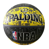 SPALDING 2016 NBA Graffiti Rubber S7O Yellow - Yellow [One Size] SPA83-307Z
