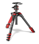 Manfrotto Befree Alu Tripod - Red