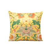 Vivere Cushion Cover Li Lotus Yellow 45x45 cm