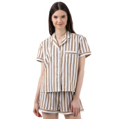 MOODS Stripe Short - Brown [All Size]