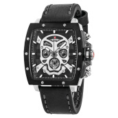 Expedition Man Skeleton Black Dial Black Leather Strap [EXF-6688-MCLTBBA(SET)]