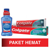 COLGATE Toothpaste Fresh Cool Mint 180g and Mouthwash Plax Peppermint 250ml Package