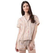 MOODS Stripe Short - Soft Brown [All Size]