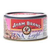 AYAM BRAND Sandwich Tuna Flakes In Oil Light 185 gr