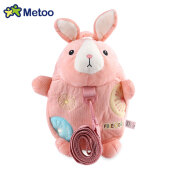 METOO Animal Design Boys Girls 3D Cute School Anti-lost Kids Kindergarten Bag WATERMELON RED JELLY BEAN 24 X 6 X 30CM