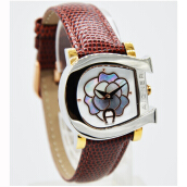 Aigner A31656A D30H6142CKTTGLS Analog Leather Strap Jam Tangan Wanita Coklat Tua Gold Brown