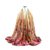 Fashionmall Multicolor Watercolour Printed Voile Gossamer Shawl Scarf