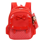 BESSKY Baby Girls Kids Bowknot Heart Dot Backpack Toddler School Bag 3Pcs Set_