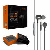 VIDVIE Earphone HS624 / Headset / Handsfree / Earbuds - Black