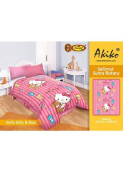 Selimut Akiko Sutra Rotary 150x200 Hello Kitty n Bear - Pink
