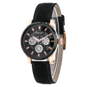 SWISS NAVY Ladies Black Dial Black Leather Strap [8310LRGBK]