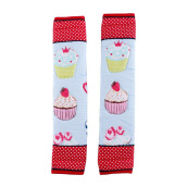 ARNOLD CARDEN Refrigerator Handle Cover Cup Cake 1 Pair - Red 15x30cm