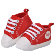 Saneoo Sneakers Prewalker Baby Shoes Merah 3-6 bulan