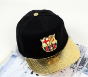 BAI B-324 Adjustable Baseball Cap MBL Hiphop cap with FCB design-Black&Golden