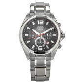 Alba Chronograph Men Dual Color Dial Stainless Steel Strap [AT3B53X1] Silver