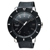 Adidas Amsterdam Black Dial Black Leather Strap [ADH2998]